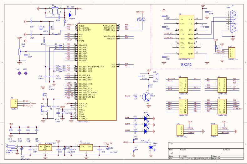 直流电机控制器原理_STM8最小系统详细原理图- 技术资料下载 - 21ic电子技术资料下载站